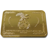 24k Gold Plated Troy Ounce Bar