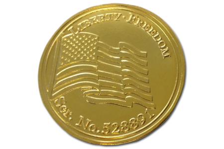 Gold Plated Coins with Serial #