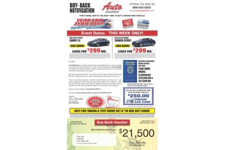 8.5 x 14 Dealership Trade-In Buy-Back Program