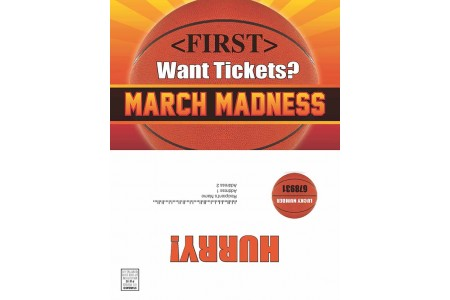 "8.5 x 11 ""March Madness"" Sweepstakes Trade-In Selfmailer"