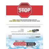 """9 x 12 Buy Back 100% MSRP Selfmailer """"Name on Street Sign"""""""