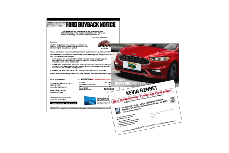 Buy Back Automotive Direct Mail Advertising