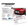 """8.5 x 11 Bi-fold Buy Back Notice Mailer """"Vanity Plate"""""""