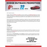 8.5 x 11 Dodge Auto Direct Mail Sample with Business Card for Automotive Advertising