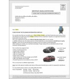 8.5 x 11 Chrysler Advertising Sample Direct Mail for Auto Dealers