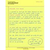 "6 x 9 ""Handwritten"" Direct Mail Letter Invitation Style"