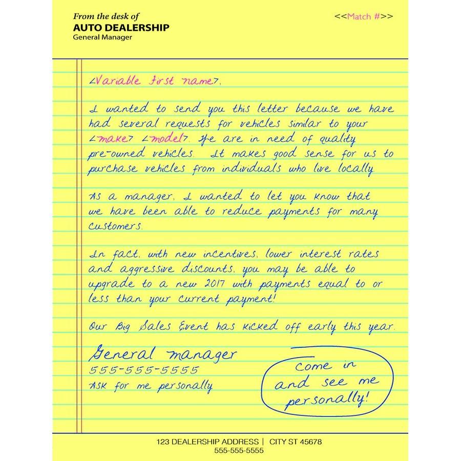 6 x 9 handwritten direct mail letter invitation style handwritten direct mail stopboris Choice Image