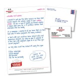 """6 x 9 """"Handwritten"""" Letter with Business Card"""