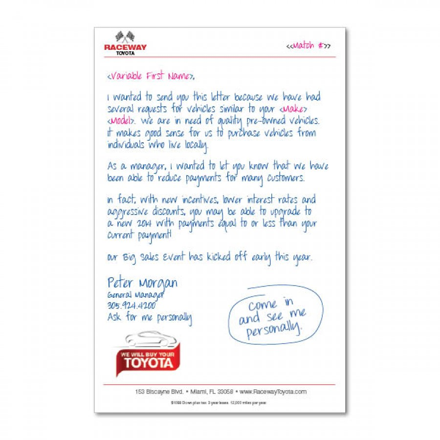 6 X 9 Quot Handwritten Quot Letter With Business Card