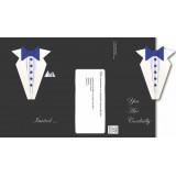 9.75 x 17 Die-Cut Automotive Advertising Tuxedo Invitation Mailers
