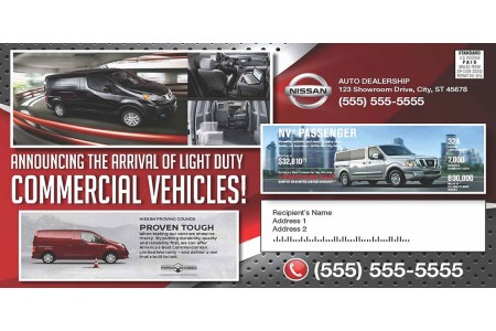 Automotive Industry Postcard Printing Service
