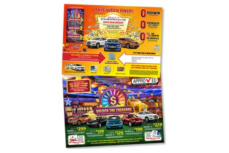 10 x 14 Casino Themed Automotive Direct Mail Marketing