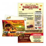 Thanksgiving Holiday Automotive Direct Mail Cards