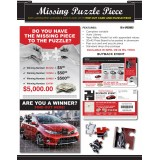 Laminated Postcard Popout Puzzle Piece Direct Mail Advertising