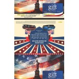 4th of July Mailer in 6x9 envelope with card attached