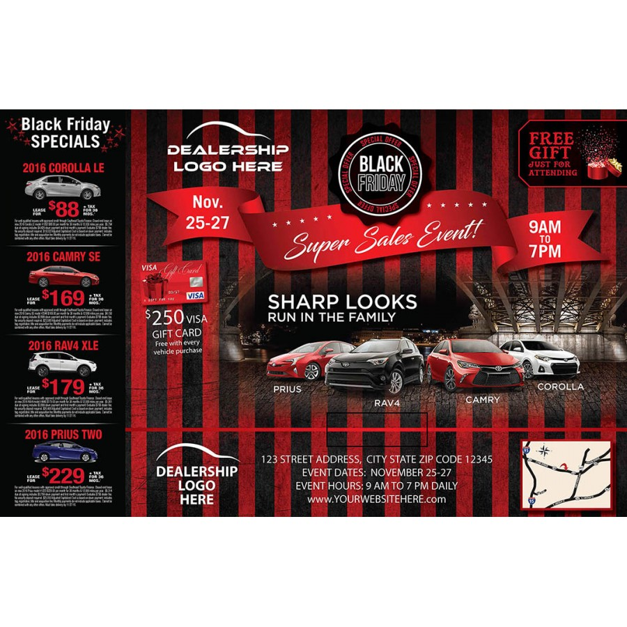 Black Friday Automotive Direct Mail Marketing Personal ...