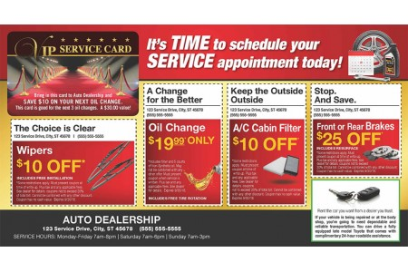 Auto Service Marketing Mailers