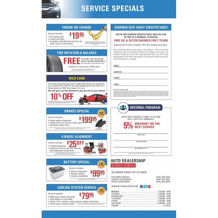 10 5 x 17 tri fold snap apart jumbo service mailers